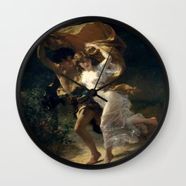 The Storm By Pierre Auguste Cot Wall Clock