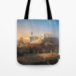The Acropolis of Athens, Greece by Leo von Klenze Tote Bag