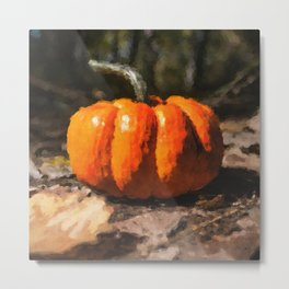 Autumn Halloween Pumpkin Metal Print
