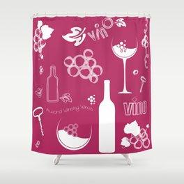 Wine Background Pattern - 05 Dark Shower Curtain