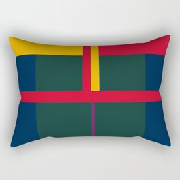 vintage, pattern, primary, colors, Rectangular Pillow