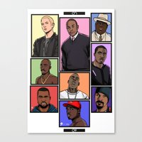 hiphop Canvas Prints featuring HipHop Legends by Akyanyme