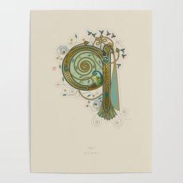 Celtic Initial Q Poster