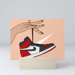 Bred Toe 1s Mini Art Print