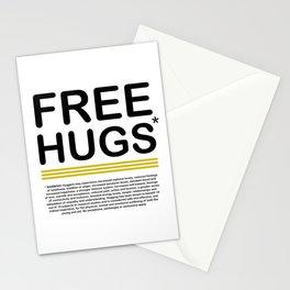 FREE HUGS *Warning Stationery Cards