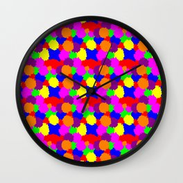 Colourful Splodges Wall Clock