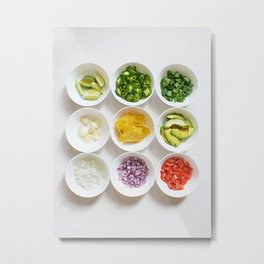 Deconstructed Guac Metal Print