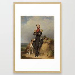 Portrait of William II, King of the Netherlands, Jan Adam Kruseman, 1839 Framed Art Print