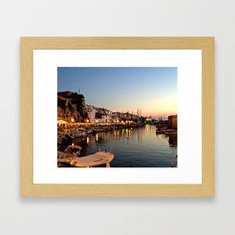 Sunset on Ciutadella Harbor 2 Framed Art Print