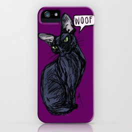 Anything But Meow iPhone Case