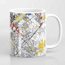 philadelphia map mondrian Coffee Mug