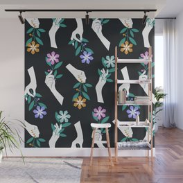 Grasping Flowers Wall Mural