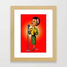 Lady Day Singing the Blues Framed Art Print