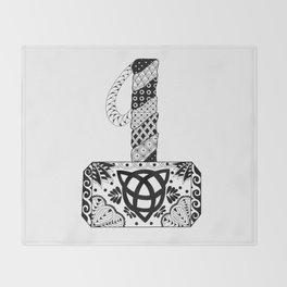 Mjolnir Mandala Throw Blanket