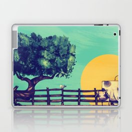 Cow Sunset Laptop & iPad Skin
