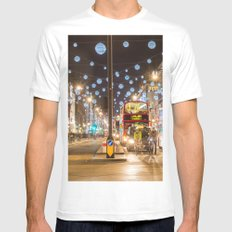 Christmas in London MEDIUM White Mens Fitted Tee