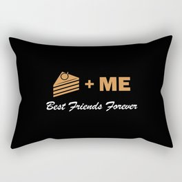 Cake plus me best friends forever – funny – foodie Rectangular Pillow
