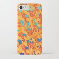 escher iPhone & iPod Cases featuring Escher cube by Tony Vazquez