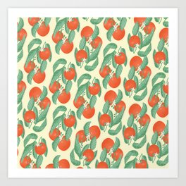 Orange Pattern Art Print
