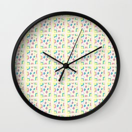 Rectangle and abstraction 4-mutlicolor,abstraction,abstract,fun,rectangle,square,rectangled,geometry Wall Clock