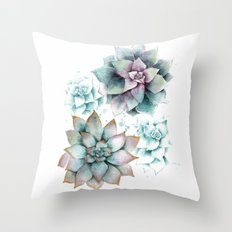 Succulents light Throw Pillow