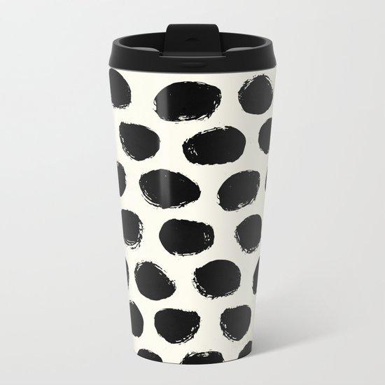 Urban Polka Dots Metal Travel Mug