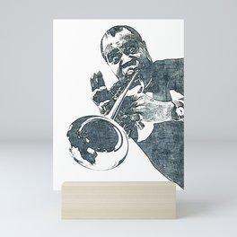 Society6 1000 Elements Of Louis - Louie - Daniel Armstrong Satchmo - Satch - Pops - Pop Sketch-Art 3 Mini Art Print