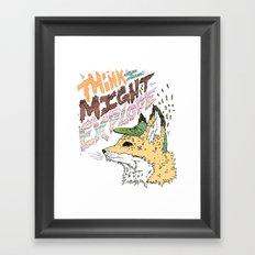 Foxplosion Framed Art Print