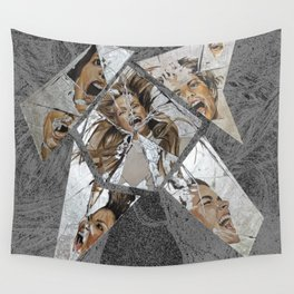 Happiness Shattered Wall Tapestry