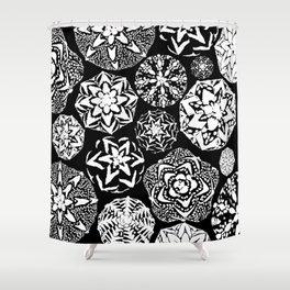 Cactus Art 01 Astrophytum#3 Shower Curtain