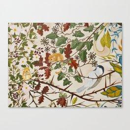 Marsh Tit and Field Mice Canvas Print
