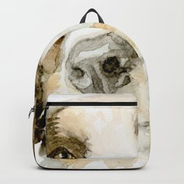 Watercolor Dog Portrait Backpack