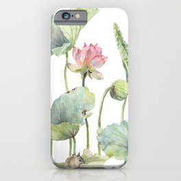 Lotus Home for a Little Mouse iPhone Case