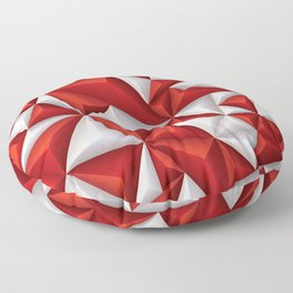 Red and white diamonds pattern Floor Pillow