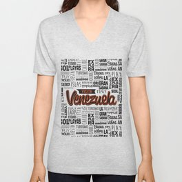 Venezuela Lettering Design Unisex V-Neck