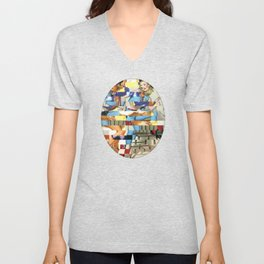 Glitch Pin-Up Redux: Yasmin & Yardley Unisex V-Neck