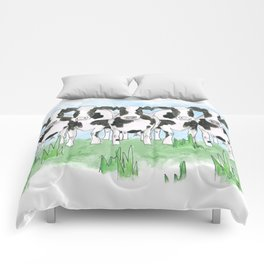A Field of Cows Comforters