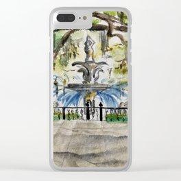 Forsyth Park Fountain, Savannah, Georgia Clear iPhone Case