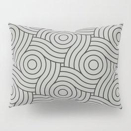 Circle Swirl Pattern Benjamin Moore's color of the year 2019 Metropolitan Gray AF-690 Pillow Sham