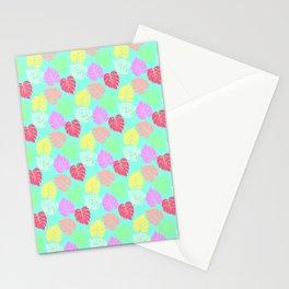 Pastel Rainbow Monstera Stationery Cards
