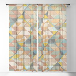 Triangles and Circles Pattern no.23 Sheer Curtain