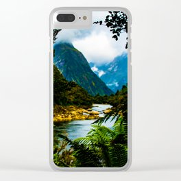 Fjord through the ferns - Milford Sound, New Zealand Clear iPhone Case