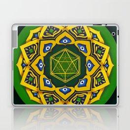 """Sacred geometry"" Green mandala by Ilse Quezada Laptop & iPad Skin"
