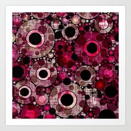 Vibrant Abstract Pink Bubbles design Art Print