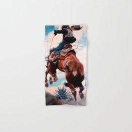 """Vintage Western Painting """"Bucking"""" by N C Wyeth Hand & Bath Towel"""