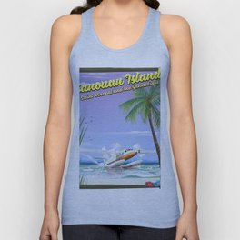 Canouan Islands travel poster Unisex Tank Top