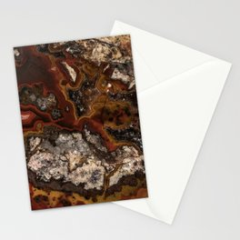 Twisted patterns of brown, red and beige stone Stationery Cards