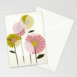 Abstract Summer Flowers Stationery Cards
