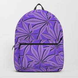 Kannabis Pattern 22 -Purple,Black Backpack