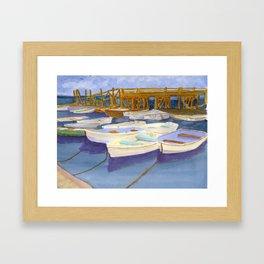 Kittery Point Maine Boat Yard Framed Art Print